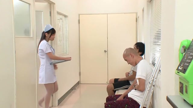 Horny Japanese whore Juri Sakura in Crazy nurse, threesomes JAV movie